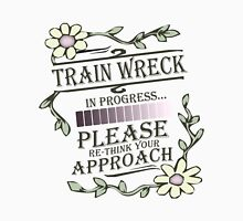 Train Wreck in Progress Womens Fitted T-Shirt