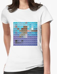 Nirvana NEVERMIND PANTONE  Womens Fitted T-Shirt