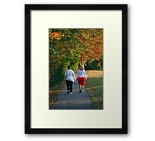 Power Walkers Framed Print