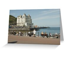 SEA FRONT SEAT Greeting Card