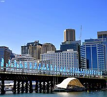 Pyrmont Bridge & Sky Tower by Kevin Cotterell