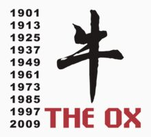 Years of The Ox 1901 - 2009 by ChineseZodiac