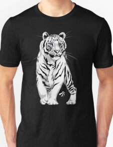 Stately White Tiger Unisex T-Shirt