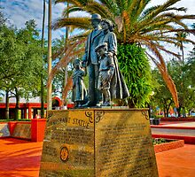 Immigrant Statue HDR 1 by MKWhite