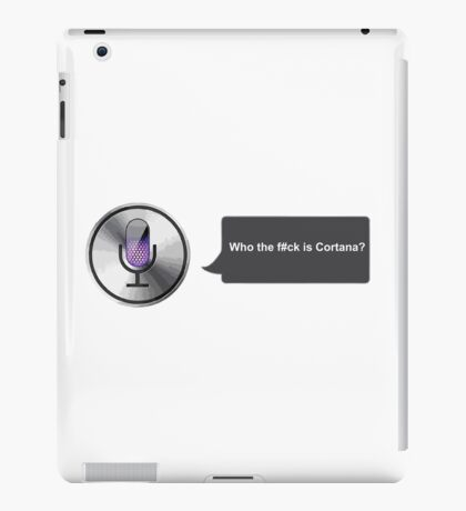 Apple Siri Voice Funny  iPad Case/Skin