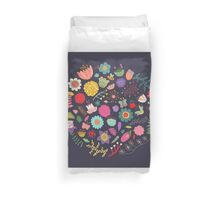 Bright Colored Flowers Floral Design Pattern Background Duvet Cover