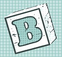 Child's Wood Block Pop Art Letter B by Anthony Ross