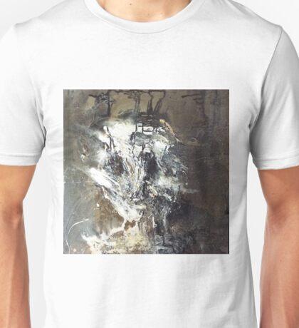 february portrait. 24''x24''. oil on wood. Unisex T-Shirt