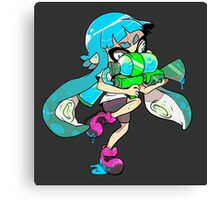 Squid Kid - Turquoise Canvas Print