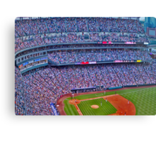 Coors Field Record Smash Canvas Print