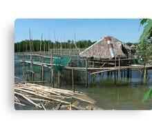 House on Bamboo Stilts Canvas Print