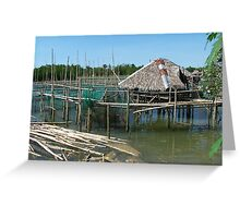 House on Bamboo Stilts Greeting Card