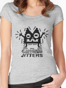caffeine jitters - cat Women's Fitted Scoop T-Shirt