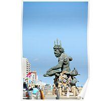 King Neptune statue-Va. Beach Poster