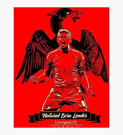 Natural Born Captain Steven Gerrard #ThanksStevie Photographic Print