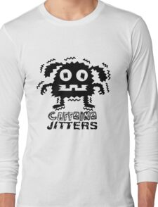 caffeine jitters - dog Long Sleeve T-Shirt