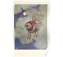 Stories from the Arabian Nights - 1907 - Edmund Dulac - 0145 - Flying Horse Poster