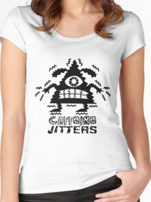 caffeine jitters - pointy Women's Fitted Scoop T-Shirt