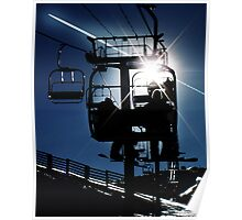 "Sunburst Silhouette ""68"" Poster"