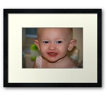 The Peach Thief Framed Print