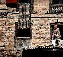 Nepalese Old Lady by Kingston  Liu