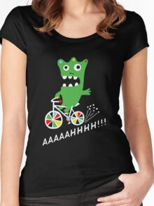 Critter Bike - dark Women's Fitted Scoop T-Shirt