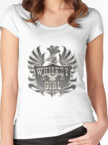 Whiskey Girl Shield Women's Fitted Scoop T-Shirt