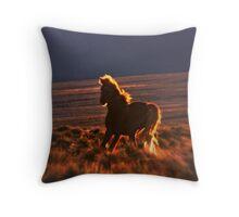 Blazing Stallion Throw Pillow