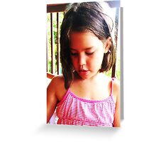 Olivia-Mission Beach, 2008 Greeting Card