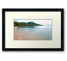 Dunk Island Glass,  Framed Print