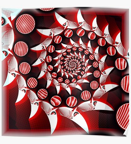 Peppermint swirly Poster