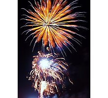 Starburst - fireworks bursting into the night Photographic Print