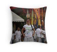 Vegetarian Festival Throw Pillow