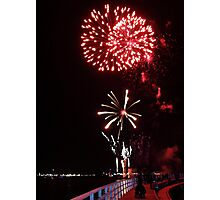 Red Firelight Photographic Print