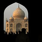 A peek at the Taj Mahal by Lidia D'Opera