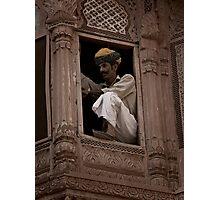 Guard at Jodhpur Photographic Print
