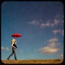 red umbrella by Jackie Cooper