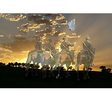 "At the going down of the Sun  and in the Morning ""WE WILL REMEMBER THEM"" Photographic Print"