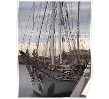 tall ship in the port Poster