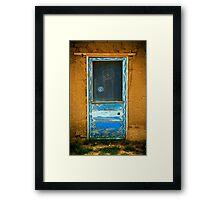 Taos Pueblo Screen Door Framed Print