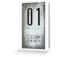 Portal Test Chamber Sign-01 Greeting Card
