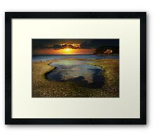 the shallows of heaven Framed Print