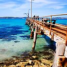 Vivonne Bay jetty on Kangaroo Island by Elana Bailey
