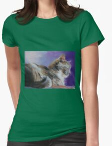 Contented ( Cat ) From original pastel by Madeleine Kelly Womens Fitted T-Shirt