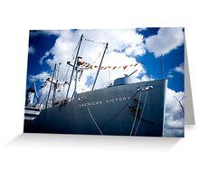 Victory Ship Greeting Card
