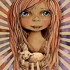 St Agnes and the Lamb by © Cassidy (Karin) Taylor