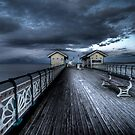 Dusk On The C19th Pier in Penarth, Wales by ajcronin