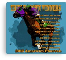 Triple Crown Winners 2015 Canvas Print