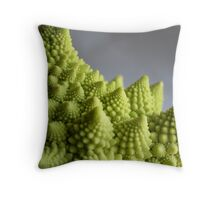 Fractal Broccoli Throw Pillow