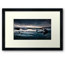 Glacier Lagoon August 2009 #2c Framed Print